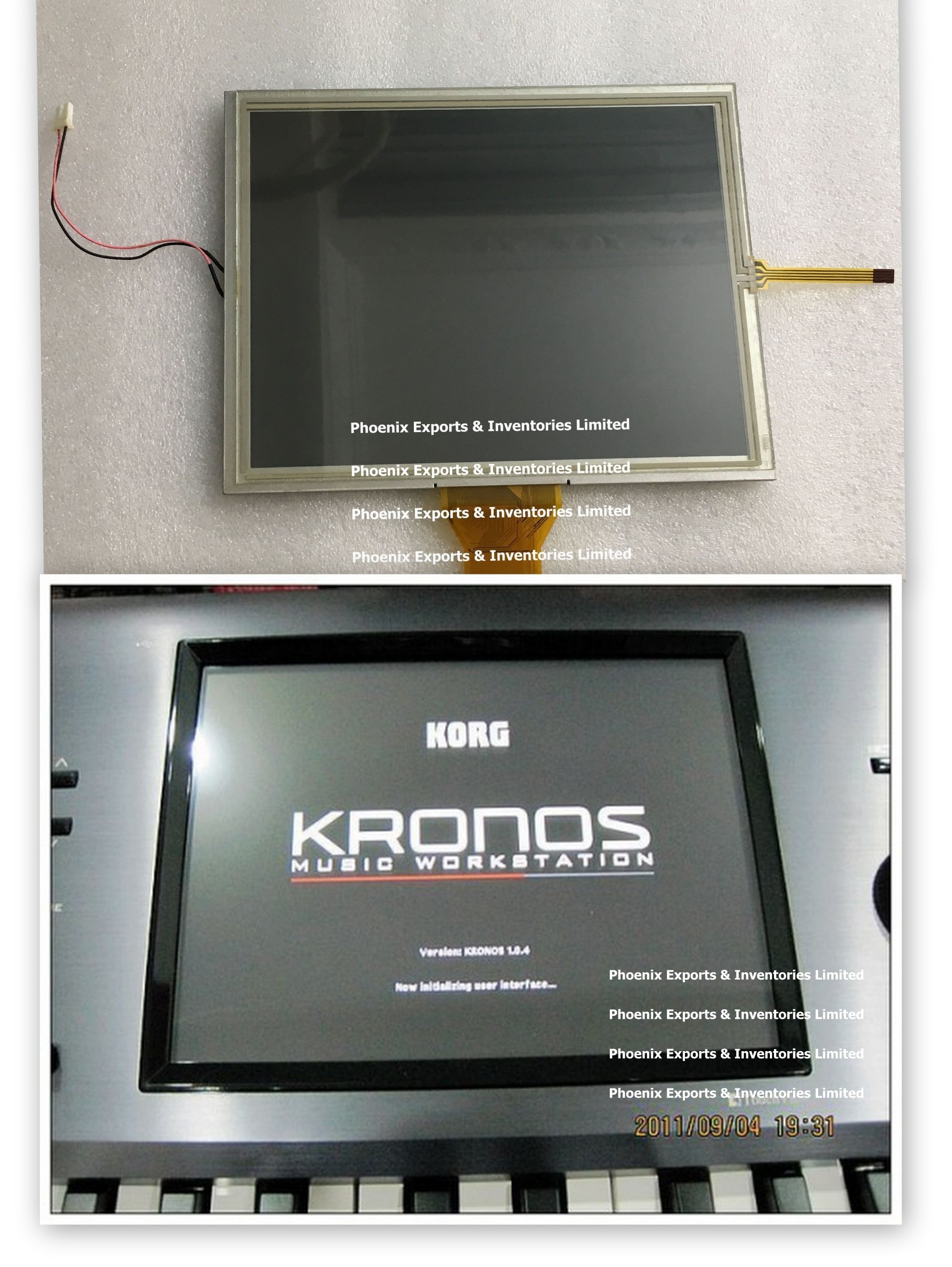 LCD SCREEN for Korg Kronos Kronos 2 with Touch Screen Panel LCD Display UMSH 8240MD T