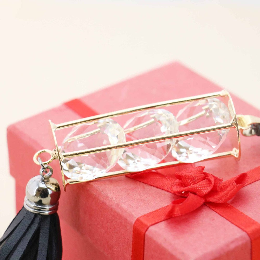 Accessories Hot sale Gold-Color Crystal set Necklace Choker Sweater Chain Jewelry crafts 18inch making design women Girls Gifts