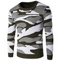 Camouflage O-neck Knitted Pullover Sweater Men New Runway Designer knitting Male Sweater Camouflage Men's Sweaters and Pullovers