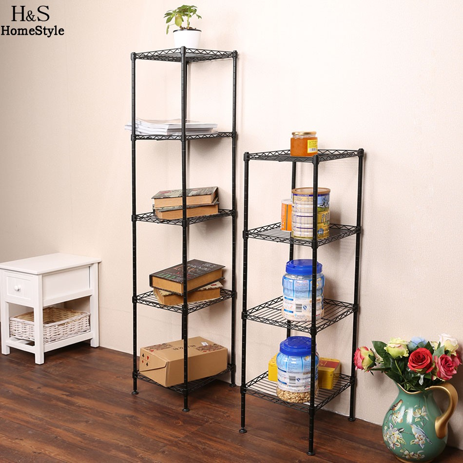 Homdox 4 Or 5 Layers Bathroom Living Room Shelf Stand Multi Multifunctional Storage Rack Combination Organizer