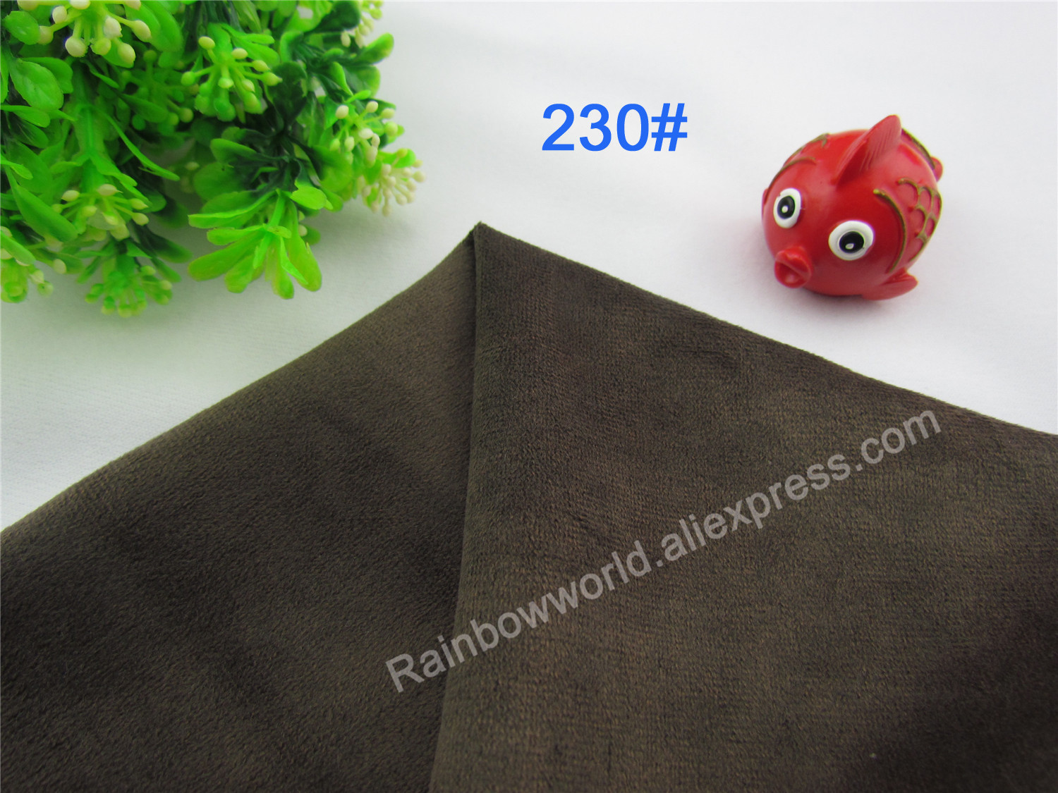 230# Brown Color Super Soft Short Hair 0.5-1.5mm Fleece Fabric Velvet Microfiber Velboa for DIY Patchwork Toy Sofa Pillow