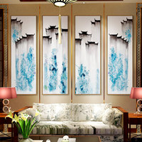 Jiangnan Town Ink Scenery DIY 5D Full Square Rubik S Cube Round Diamond Embroidery Painting Cross