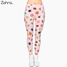 Zohra New Fashion Brand Legging Cat Sweets 3D Full Printing Punk Women's legins Stretchy Trousers Casual Pants Leggings