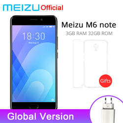 Original Meizu M6 Note 3GB 32GB ROM Cellphone 4GLTE Snapdragon 625 Octa Core 5.5
