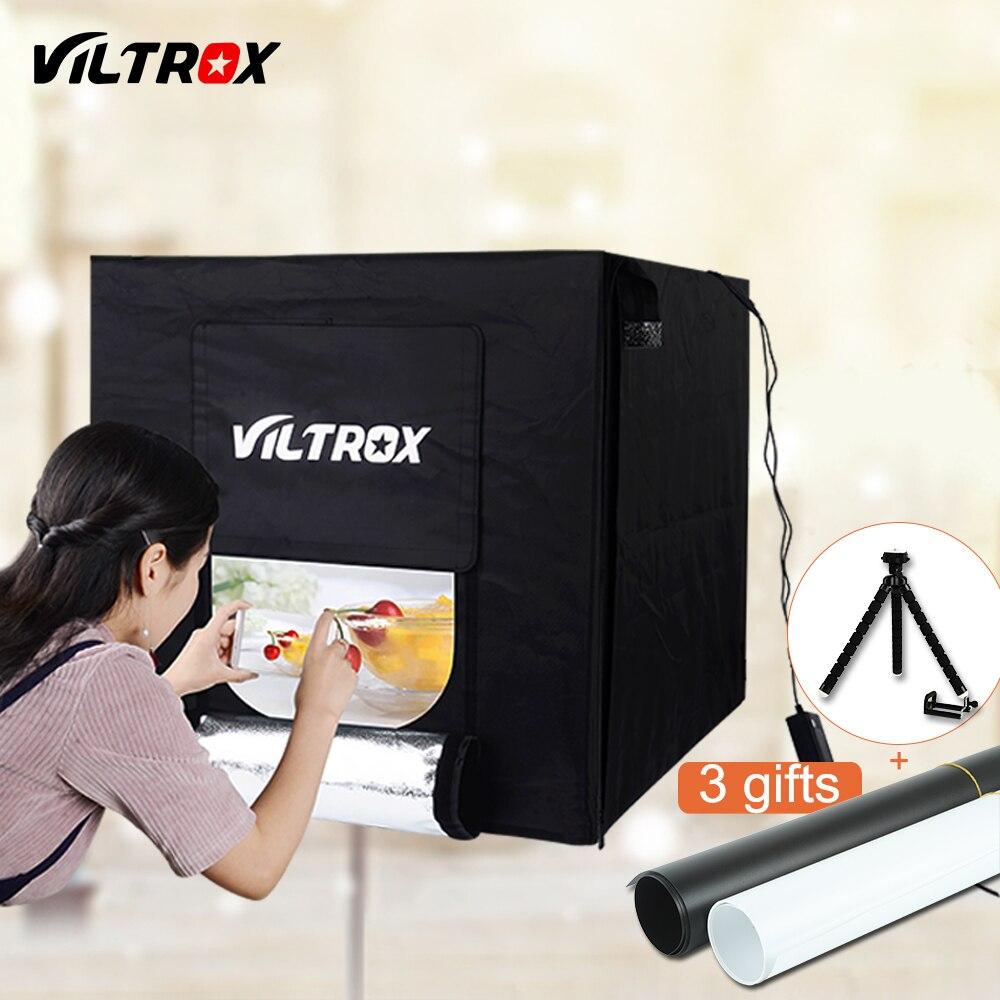 Viltrox 60*60 cm Portable Photo Studio Éclairage Mini softbox lightbox Pliage Boîte à lumière Photographie Toile de Fond Tir Tente Kit