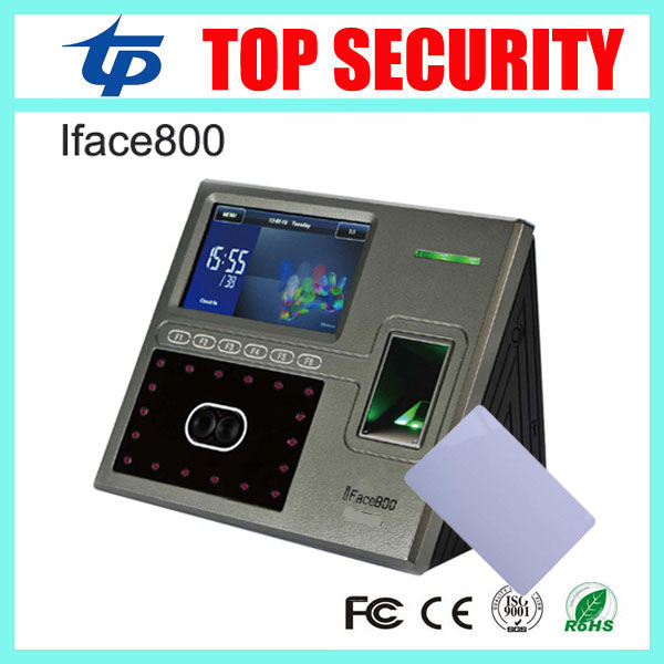 Iface800 face recognition time attendance and access control system TCP/IP 1200 users capacity time recording with RFID reader