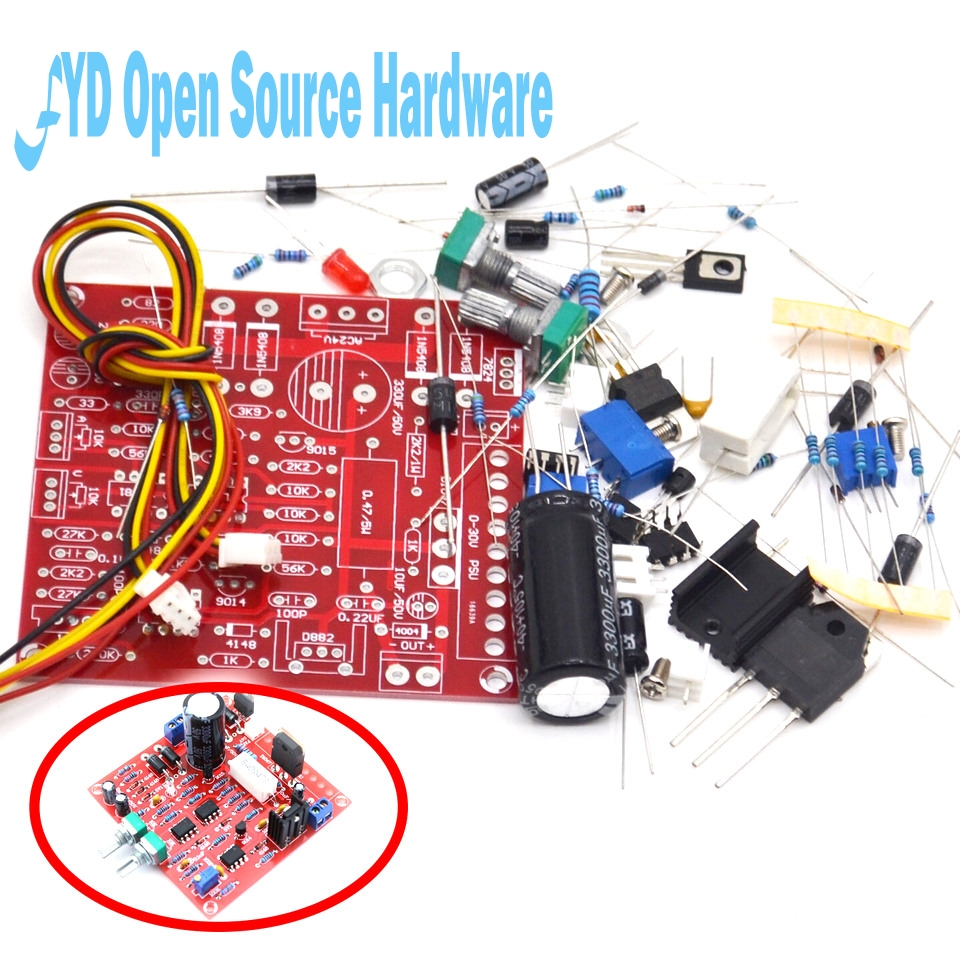 0-30V 2MA-3A adjustable DC power supply laboratory power short-circuit current limit protection DIY kit