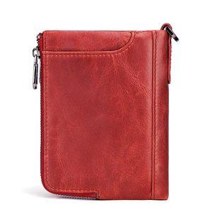 Image 2 - KAVIS Genuine Leather Women Wallet Female Red Rfid Coin Purse Small Walet Portomonee PORTFOLIO Money Bag Lady Mini Card Holder