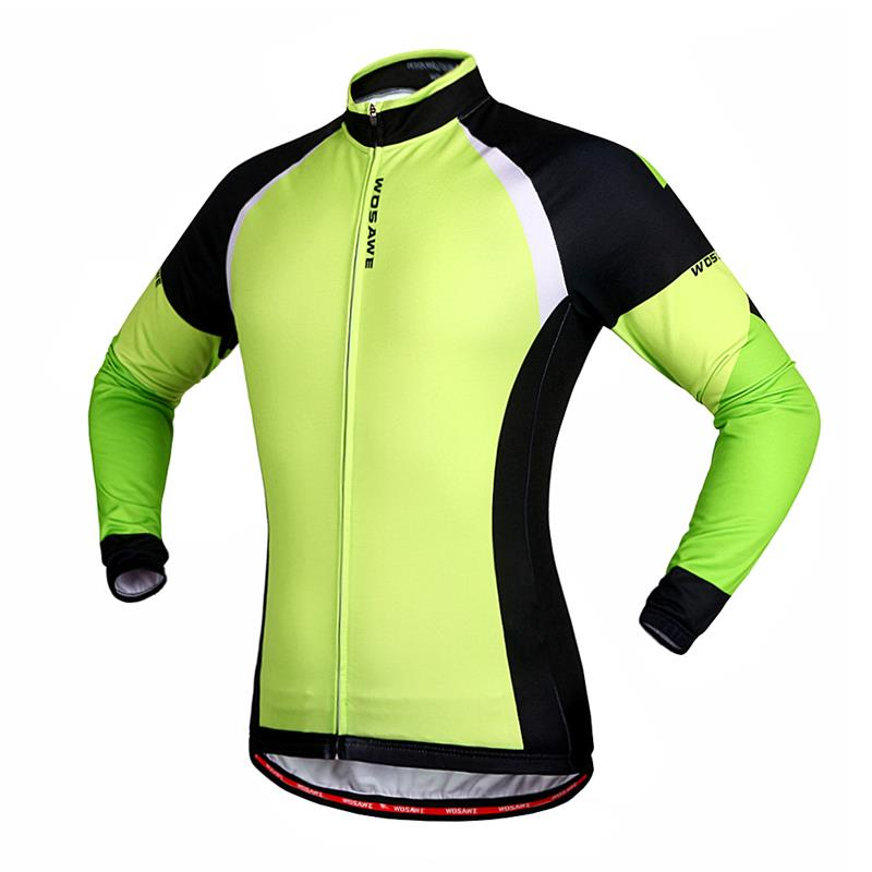 WOSAWE Men s Fleece Thermal Winter Cycling Jackets Windproof Bike Bicycle  Long Sleeve Jersey Shirts Ciclismo Cycling Clothing-in Cycling Jackets from  Sports ... aec3588a7