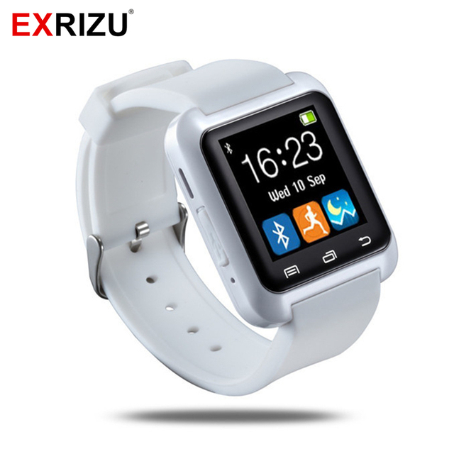 5dba1bbace9 EXRIZU U8 Bluetooth Relógio Inteligente Esporte Fitness Saúde Pulseira  Pulseira Handsfree Smartwatch para Android iPhone Samsung