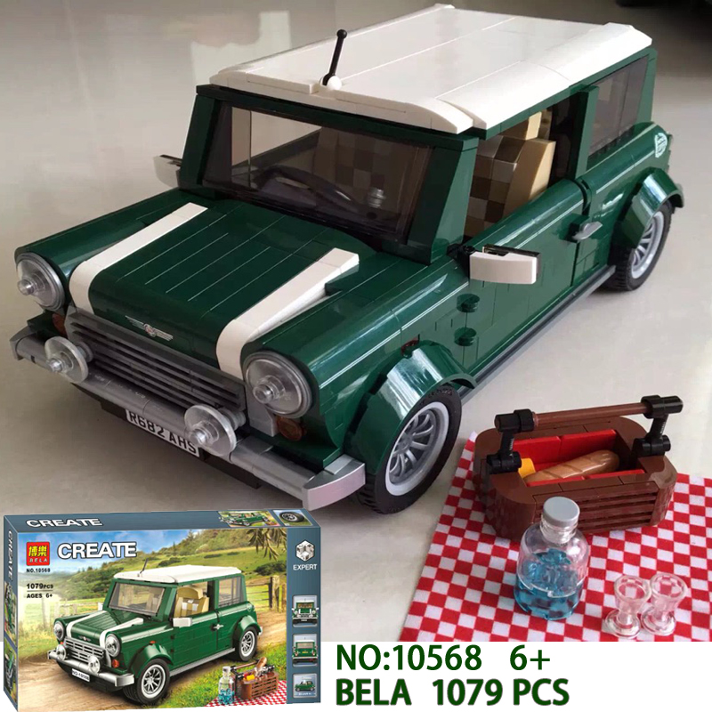NEW Model Creator series MINI Cooper model Building Blocks Sets Classic Compatible bricks Technic Car Toys for children gifts free shipping lepin 21002 technic series mini cooper model building kits blocks bricks toys compatible with10242