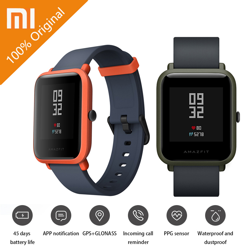 Original Xiaomi Huami Amazfit Bip BIT PACE Lite Youth Verison Smart Watch Mi Fit IP68 Waterproof Glonass GPS English Language [english version] xiaomi huami amazfit bip bit pace lite youth mi fit ip68 waterproof glonass smart watch gps english language