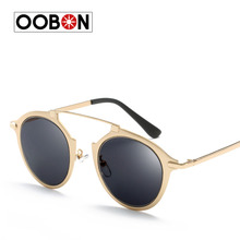 2017 New Summer Fashion Vintage Metal Female Cat eye Sunglasses Gafas Luxury Brand Women Designer Retro Men Sun Glasses