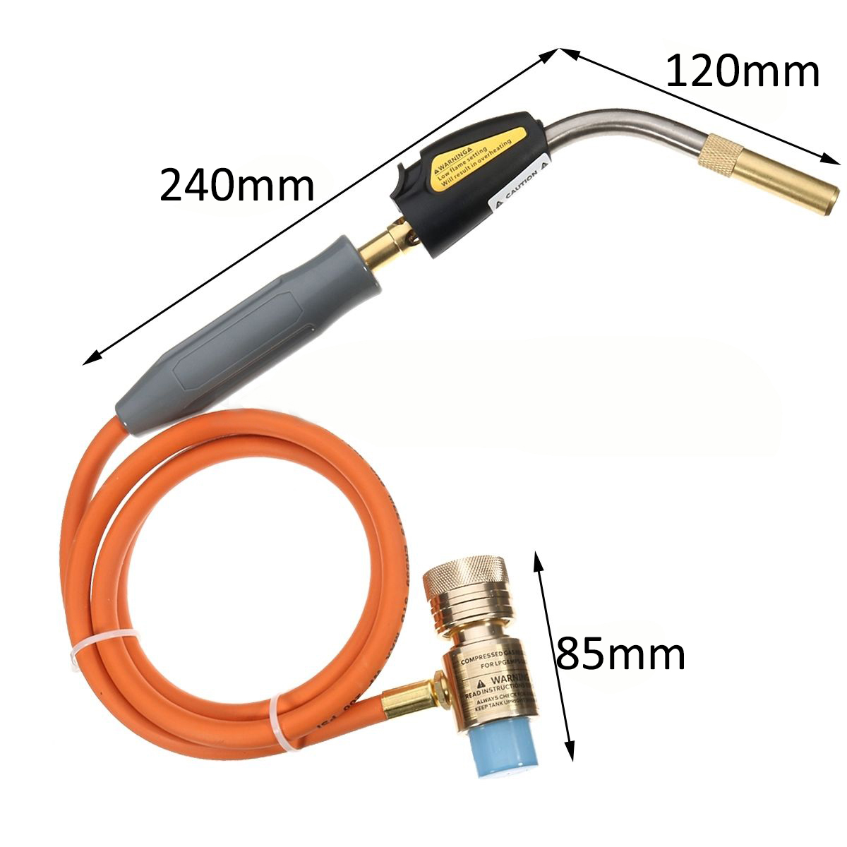 Mayitr Gas Self Igniting Turbo Torch With Hose Solder Propane Welding Torches for Plumbing Air Condition Heating Refrigeration p80 panasonic super high cost complete air cutter torches torch head body straigh machine arc starting 12foot