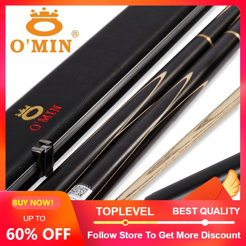 2019 O MIN ENLIGHTEN 3 4 Piece Snooker Cue with Case with Extension 9 5 10mm