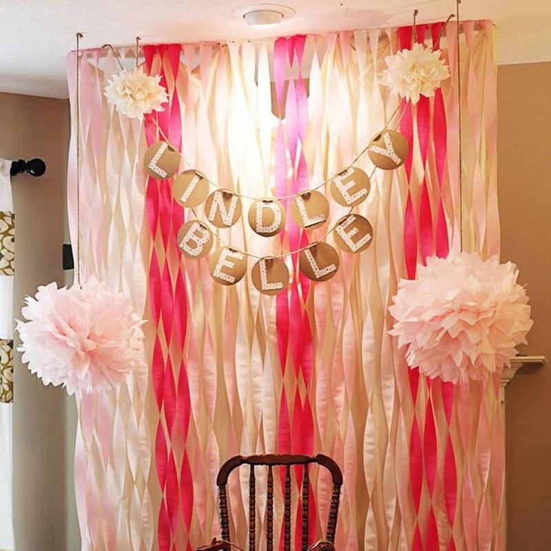 unids rollo de papel crepe streamers cintas decorativas fiesta de cumpleaos de la boda suministros de la boda et