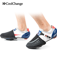 CoolChange Bicycle Shoes Cover Winter Thermal Elastic Bike Shoe Protector Boot Cover Windproof Half Palm Warmer Bike Equipment|  -