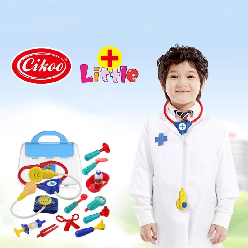 13 Pcs/Set Children Toys Cosplay Nurse Doctor Role Pretend Plastic Medical Box Kit Kids Educational Toy Classic Gifts FJ