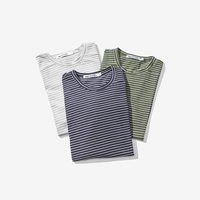 H.A.Sueno 2018 summer new daily Striped short sleeve Japanese style vintage men's t shirt oversized tees for men for women