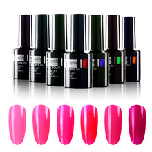 Moda 1pc Soak Off Rose Color rosa UV LED Nail Art Polish Polish 10ml