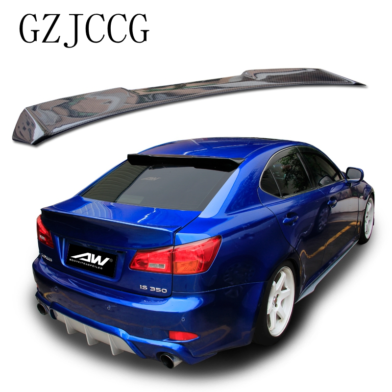 High quality carbon fiber rear tailbox spoiler rear windshield wing visor for Lexus IS IS250 IS300 IS350 2007-2013 car styling цена