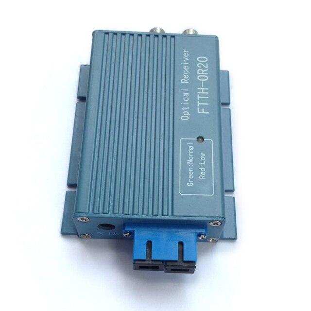 Alüminyum CATV FTTH AGC mikro SC UPC dubleks konnektör 2 çıkış portu WDM PON FTTH OR20 CATV Fiber optik alıcı