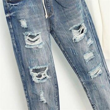 Summer Ripped Boyfriend Jeans For Women Fashion Loose Vintage High Waist Jeans Plus Size Jeans 5XL Pantalones Mujer Vaqueros Q58 4