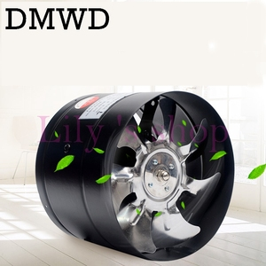 """DMWD 6 inch kitchen toilet exhaustfan louver 6"""" pipe exhaust fan air ventilation ceiling booster Blower metal exhauster 150mm(China)"""