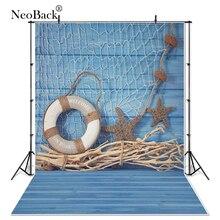 2016 vinyl backdrops 150*220cm fundo fotografico newborn Children photography backgrounds Summer blue Navy starfish buoy P0955 стоимость