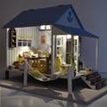 Assemble Miniature Dollhouse Villa DIY Doll House Handmade Toy Dream House Model Kit DIY Room Box Home Girl Girlfriend Present