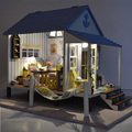 Villa Casa De Bonecas Em Miniatura Casa de Bonecas DIY Brinquedo Artesanal Sonho de montar Kit Modelo de Casa Quarto DIY Casa Caixa Namorada Menina Presente