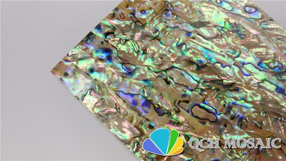 Купить с кэшбэком A grade New Zealand paua abalone shell laminate sheet for musical instrument and wood inlay yellow color