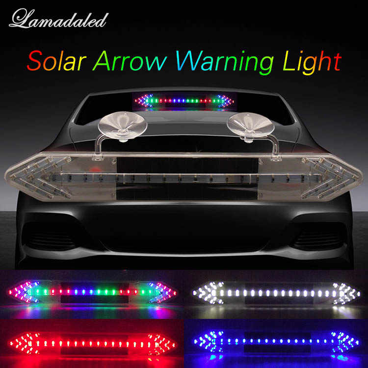 Detail Feedback Questions about 39cm Car Solar Warning Lights LED