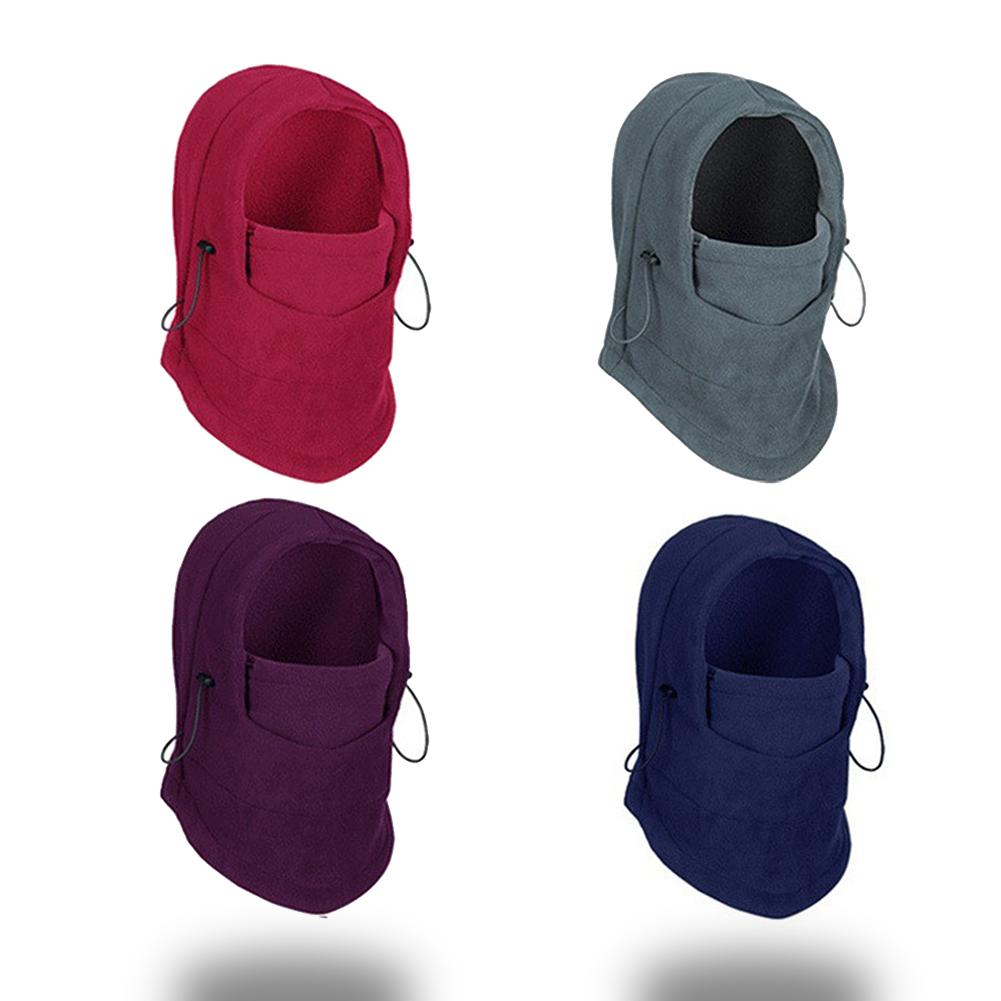 Motorcycle Face Mask Thermal Fleece Balaclava Ski Snowmobile Cycling Full Face Mask Under Helmet Hood Hat Unisex accessories hoodie