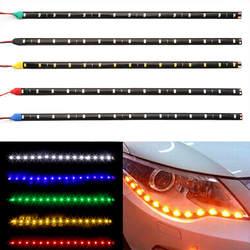 ходовые огни 30 см автомобиля Светодиодные ленты света высокой Мощность 12 В 15smd автомобиля DRL лампы Водонепроницаемый LED Гибкая Дневной Бег
