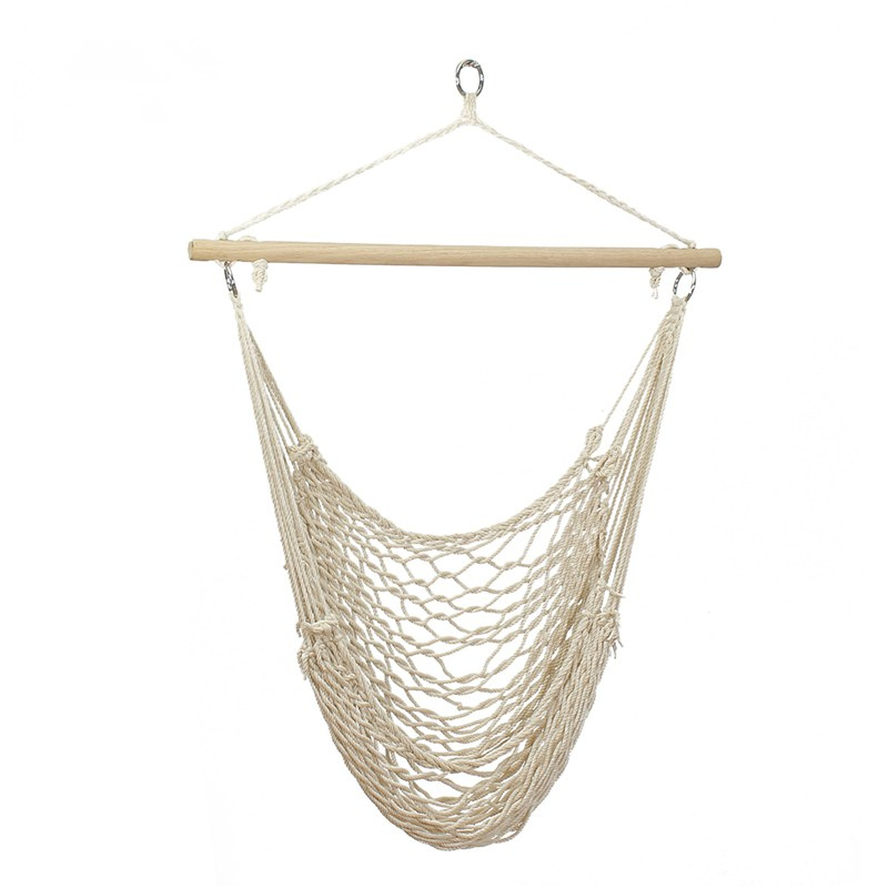Outdoor Hammock Chair Hanging Chairs Swing Cotton Rope Net Swing Cradles Kids Adults Outdoor Indoor Hot SaleOutdoor Hammock Chair Hanging Chairs Swing Cotton Rope Net Swing Cradles Kids Adults Outdoor Indoor Hot Sale