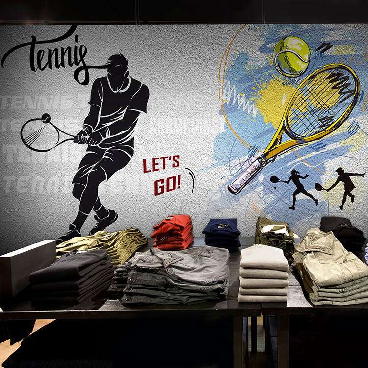 Aliexpress com  Buy Free shipping 3D tennis stadium gym