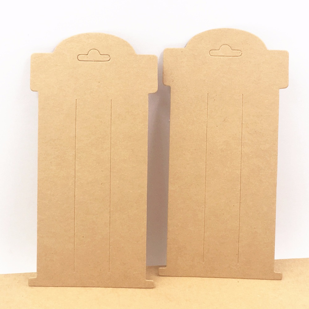 100pcs/lot 16*8cm Kraft Paper Hair Clip Cards Blank Hairpin/Accessory Packaging Cards