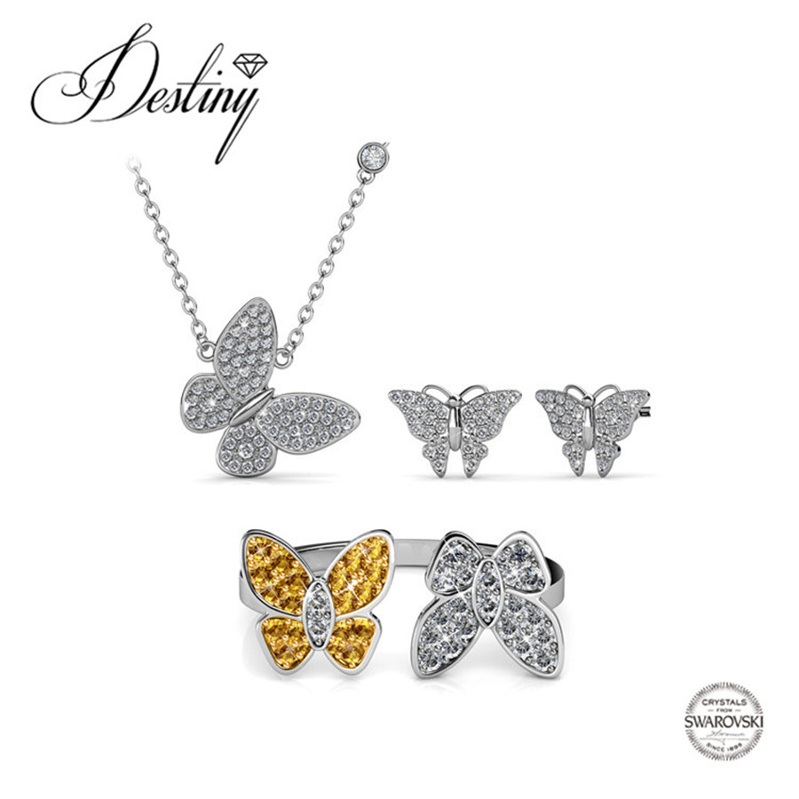 8dfcdac27 Destiny Jewellery Embellished with crystals from Swarovski jewelry sets  Buttterfly Lovers jewellery Set DS020