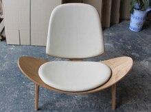 CH198 Hans J Wegner Style Shell Chair CH07 lounge chair in livingroom
