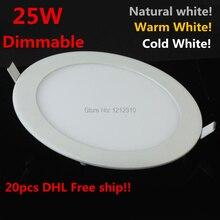 25วัตต์Dimmableนำโคมไฟเพดานธรรมชาติสีขาว/สีขาวอบอุ่น/เย็นสีขาวAC110 220Vนำแสงแผงพร้อมคนขับรับประกัน2ปี