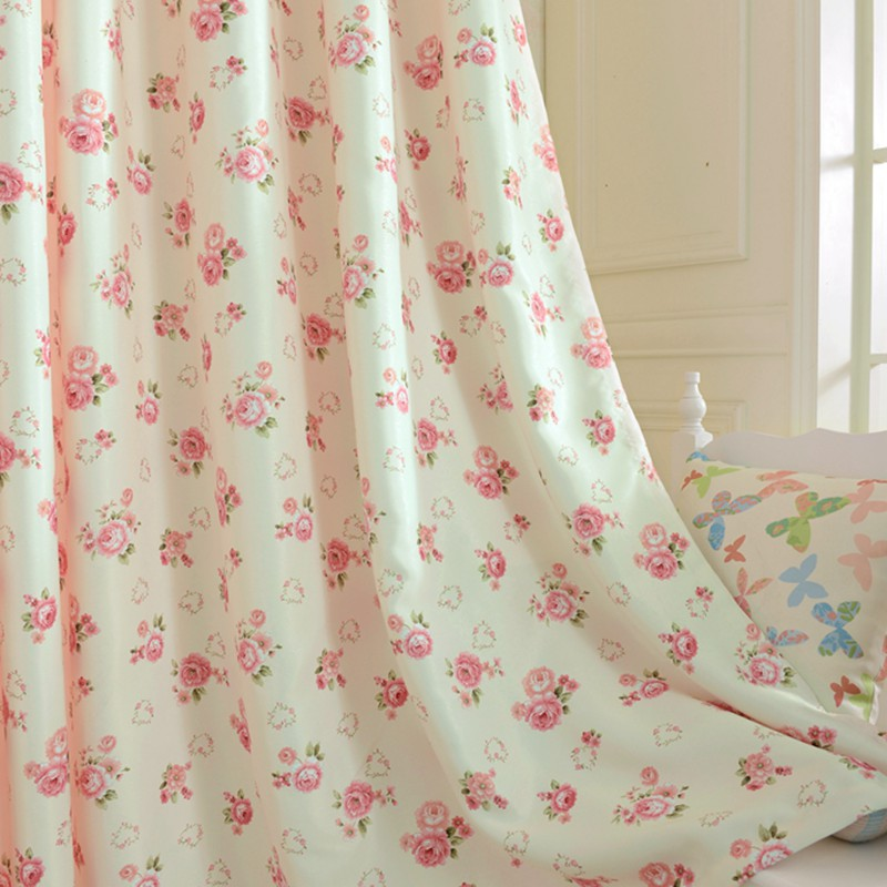 Short Window Curtains For Bedroom Window Treatments Drapery Floral Design Rustic Blackout