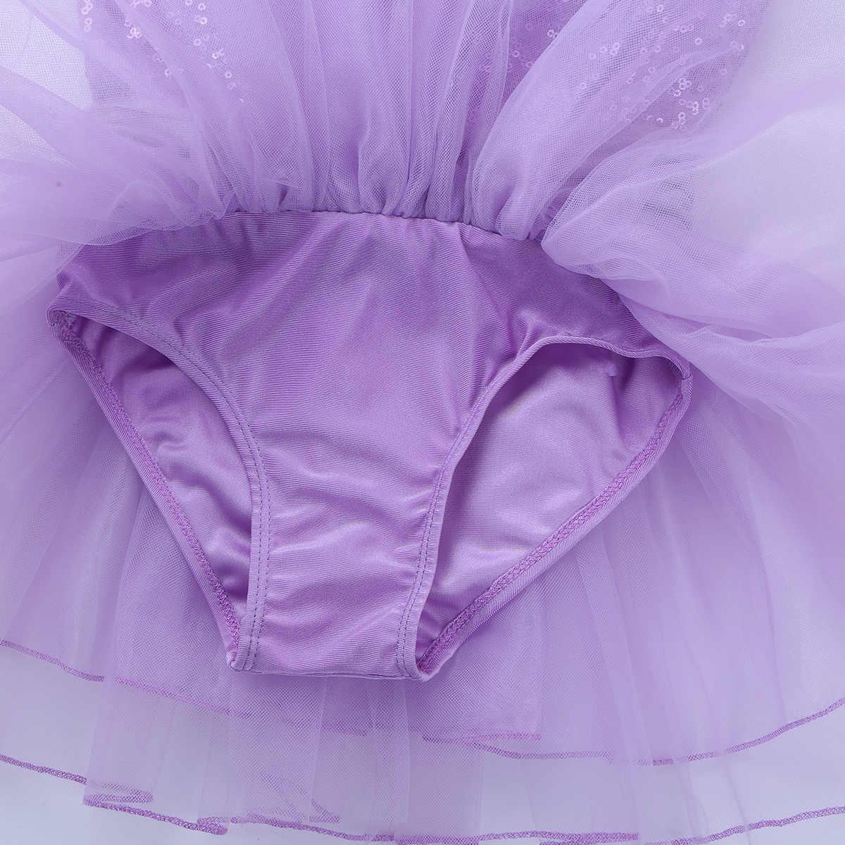 2019 prenses parti elbise çocuklar kızlar için Glitter payetli bale elbise dans spor Leotard Tutu dans eteği lirik kostümleri