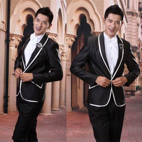 Latest Coat Pant Designs Black Satin Wedding Suits For Men Prom Jacket Slim Fit 2 Piece Groom Style Tuxedo Custom Blazer Ternos