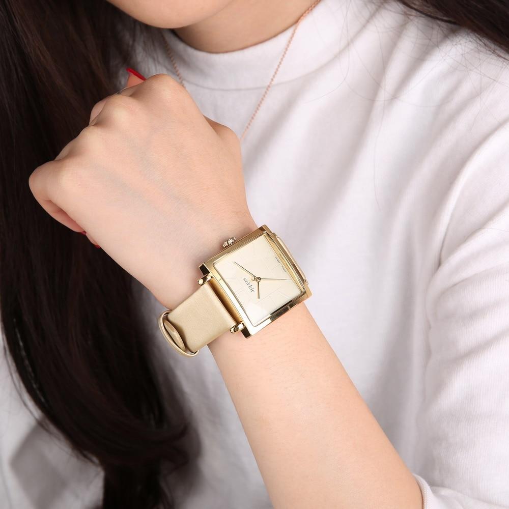 da54b7735 Luxury Rose Gold Antique Square Leather Dress Wrist watch 2017 JULIUS Quartz  Brand Lady Watches Women Relogio Feminino Montre-in Women's Watches from ...