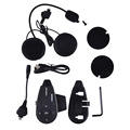 V5 1200 M Bluetooth casco de la motocicleta del intercomunicador del Interphone auricular auriculares inalámbricos soporte mp3 / GPS / Phone 5 jinetes