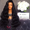 Long 200 Density 7a Full Lace Human Hair Wigs For Black Women Lace Front Human Hair Wigs With Baby Hair Remy Human Hair Wig Wavy