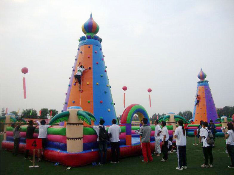Outdoor font b sports b font games children inflatable climbing wall for the Park