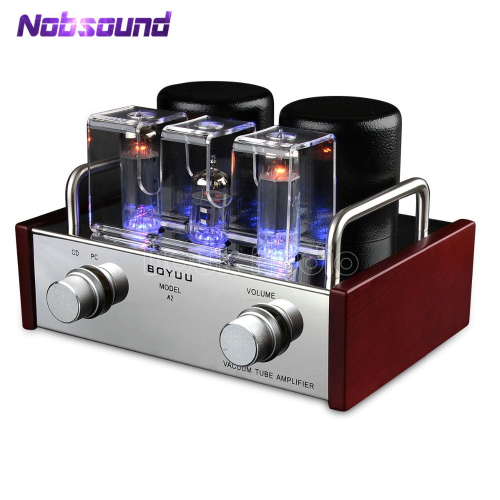 Boyuu Mini Class A Single-ended 6P14 / EL84 Vacuum Tube Amplifier HiFi Integrated Power Amplifier Finished Product 110V or 220V j 012 muzishare x3t 5ar4 2 dual rectifier circuit integrated vacuum tube amplifier el84 2 pure class a single ended power amp