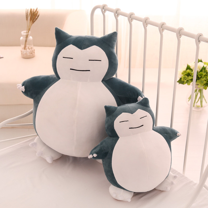 Cute Big Snorlax Anime Plush Toys Lovely Cartoon Japanese Soft Large Pillow Stuffed Animal Doll Gift for Children Dropshipping image